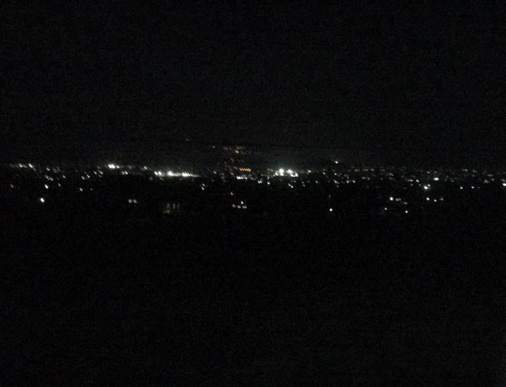 バスからの夜景